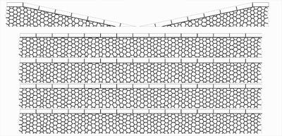 Bordures de quai marchandises pierres hexagonales