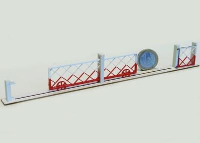 Barrières roulantes + portillon pour PN 4m