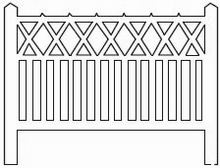 Barrières béton 104 type PO  « Evaux-les-Bains »