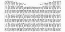 Bordures de quai pierres hexagonales avec descentes