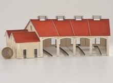 Kit de Base 4 stalles rotonde type PLM «  Autun »